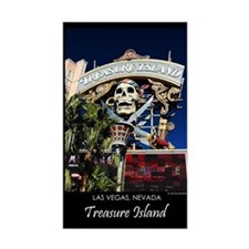 Treasure Island Sign Rectangle Decal