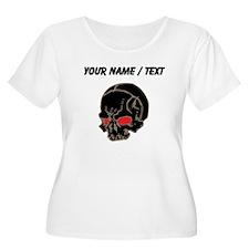 Custom Black Skull Plus Size T-Shirt