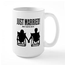 Just Married | Personalized Newlyweds Mugs