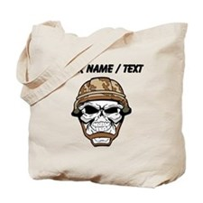 Custom Soldier Skull Tote Bag