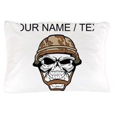 Custom Soldier Skull Pillow Case