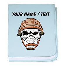 Custom Soldier Skull baby blanket