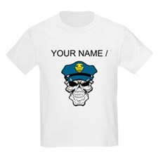Custom Policeman Skull T-Shirt