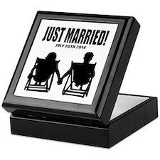 Just Married | Personalized wedding Keepsake Box
