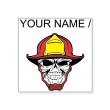 Custom Fireman Skull Sticker