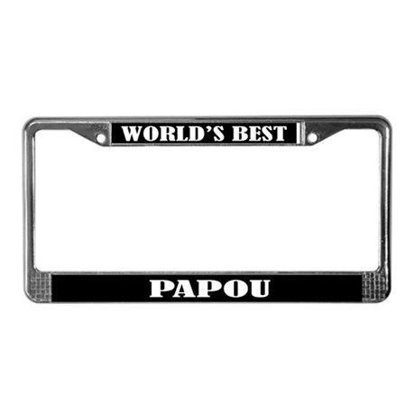 Worlds Best Papou License Plate Frame