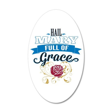 Hail Mary Wall Decal