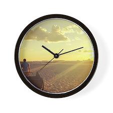Unique Cabana boy, flumingo Wall Clock