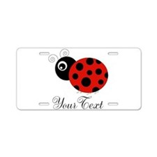 Red and Black Personalizable Ladybug Aluminum Lice