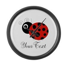 Red and Black Personalizable Ladybug Large Wall Cl