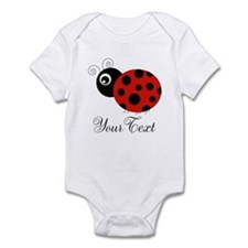 Red and Black Personalizable Ladybug Body Suit