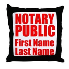Notary Public Throw Pillow