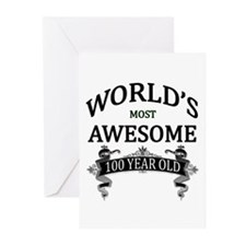 World's Most Awesome 100 Greeting Cards (Pk of 10)