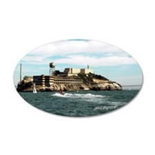 Alcatraz 'The Rock' 35x21 Oval Wall Peel