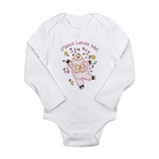 Cute Lamb Long Sleeve Infant Bodysuit