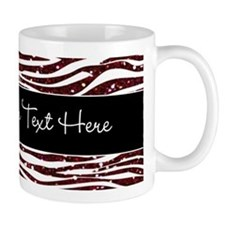 Red Black Glitter Custom Mug