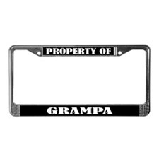 Property Of Grampa License Plate Frame