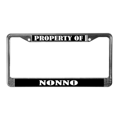Property Of Nonno License Plate Frame