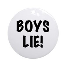Boys Lie Ornament (round)