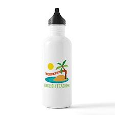 Retired English teache Water Bottle