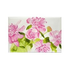 Hillary's Peonies Rectangle Magnet