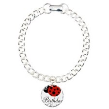 Red and Black Birthday Girl Ladybug Bracelet