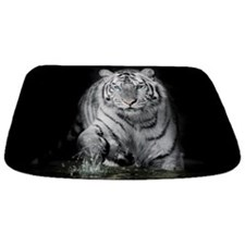 White Tiger Bathmat