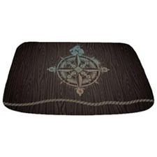 Nautical Compass Bathmat