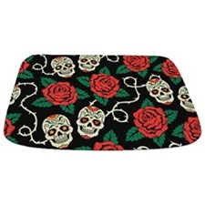 Skulls And Roses Bathmat