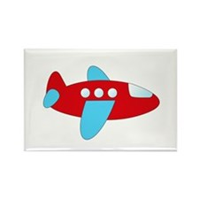 Red and Blue Airplane Magnets