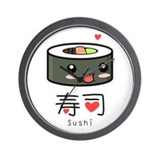 Kawaii Sushi Wall Clock