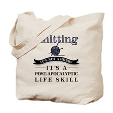 Knitting: A Post-Apocalyptic Life Skill Tote Bag