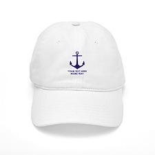 Nautical Sailing Boat Anchor Baseball Baseball Cap