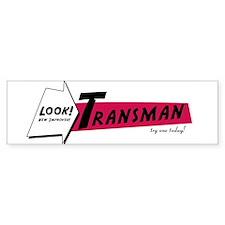 New Improved Transman Bumper Bumper Sticker