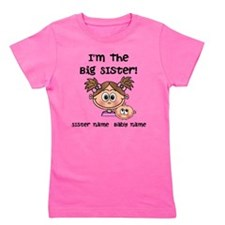Big Sister 1 (brown) - Customize! Girl's Tee