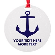 Nautical boat anchor Ornament