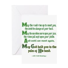 Irish May the Road Greeting Cards
