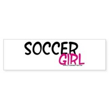 Soccer Girl Bumper Bumper Sticker