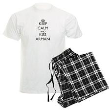 Keep Calm and Kiss Armani Pajamas