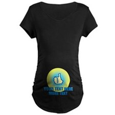 Thumbs Up   Personalized Maternity T-Shirt