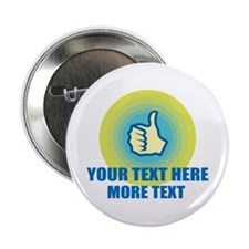 "Thumbs Up | Personalized 2.25"" Button"