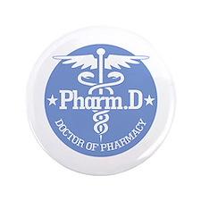 "Caduceus Pharm.D 3.5"" Button (100 pack)"