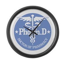 Caduceus Pharm.D Large Wall Clock