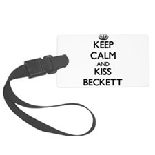 Keep Calm and Kiss Beckett Luggage Tag