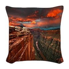 Grand Canyon Sunset Woven Throw Pillow