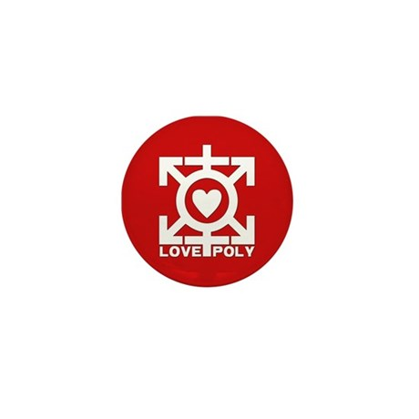 Love Poly Red Mini Button (10 pack)