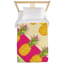 Tropical Pineapples, Twin Duvet