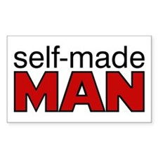 Selfmade man Rectangle Decal