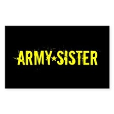 Army Sister: Gold and Black Decal