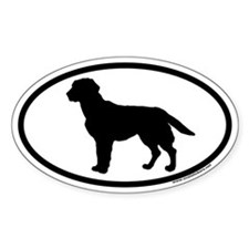 Black Labrador Retriever Euro Oval Decal